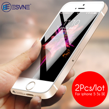 ESVNE (2 pcs/lot)0.26mm 2.5D Protective Glass For iPhone se glass 5s 5 Screen Protector On Tempered Film