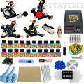 ITATOO Pens Tattoo Kit Cheap Tattoo Machine Set Kit Tattooing Ink Machine Gun Supplies For Jewelry Weapon Professional TK1000007