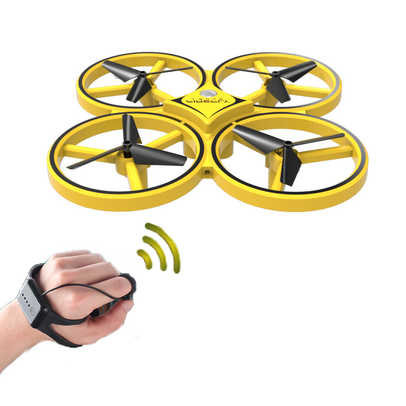 Image 2 - DWI Obstacle Avoidance Aircraft Mini Drone Professional 360 Flip Interactive Induction Quadcopter Watch Control UAV Drone-in RC Airplanes from Toys & Hobbies