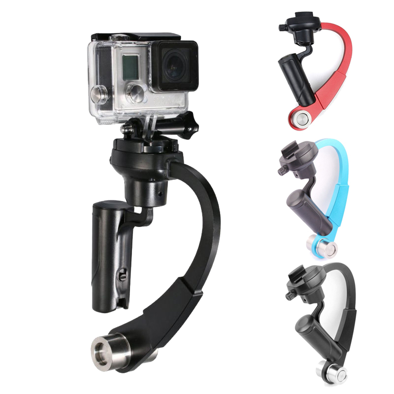 Alloy Aluminum Mini Handheld Digital Video Camera Stabilizer Video Steadicam C-Curved Gimbal For GoPro 1 2 3 3+ 4 Xiaomi Yi Cam