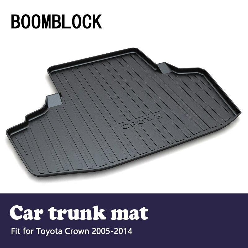 BOOMBLOCK Car Special Trunk Floor Foot Mat Pad Non slip Dustproof Interior Accessories For Toyota Crown 2014 2013 2012 2005