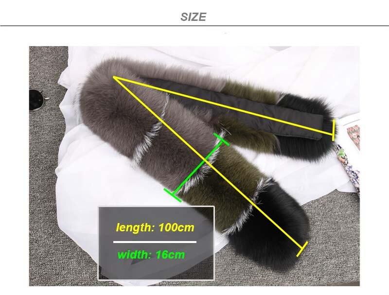 fox fur scarf SIZE