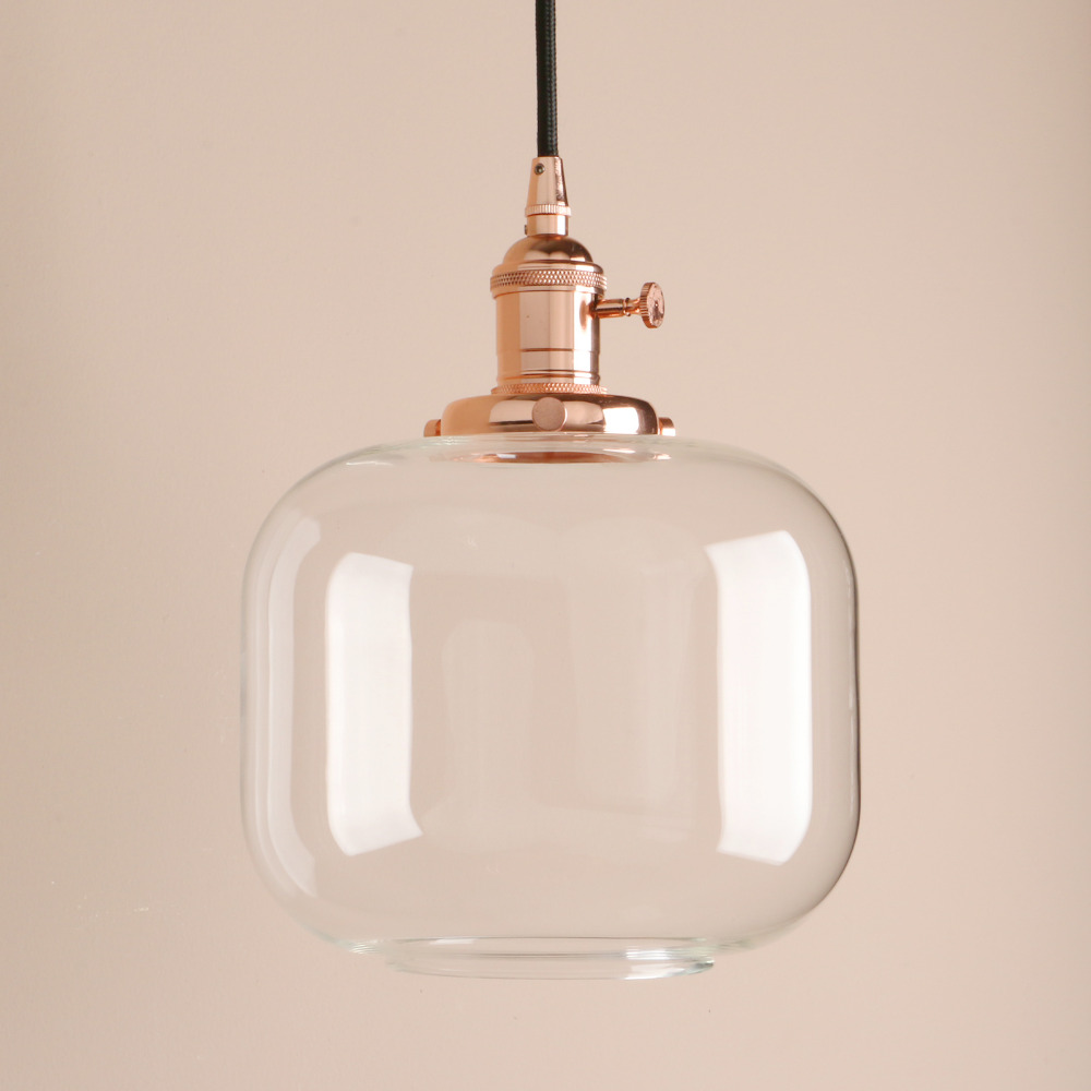 Glass Jar Lamp Shade Detail Feedback Questions About Permo Vintage Pendant Ceiling Lamps