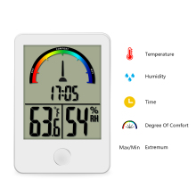 Digital display  Comfort Level Weather Station Clock indoor thermometer Humidity measurement Portable Temperature Meter
