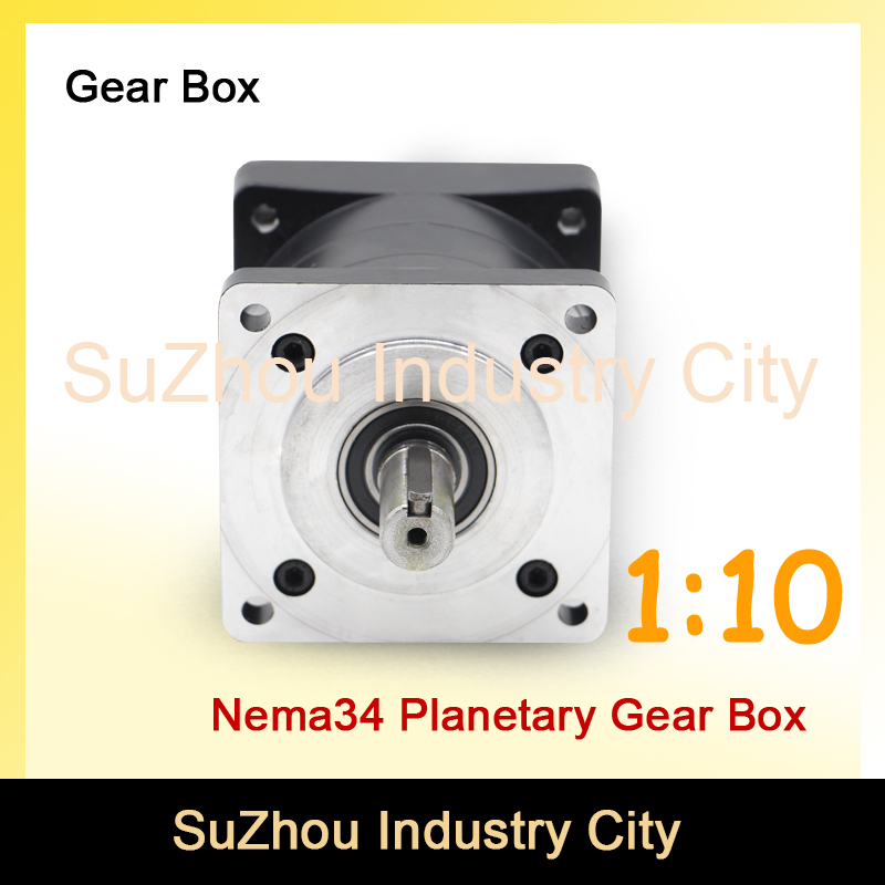 Nema34 1:10 stepper Motor Planetary Reduction Ratio 1:10 planet gearbox 86mm motor speed reducer, High Torque high quality !! цена и фото