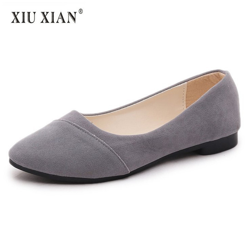 2018 New Arrived Simple Design Pointed Toe Suede Women Flats Shallow Slip on Comfort Boat Shoes Fashion Office Lady Casual Shoes cresfimix women cute spring summer slip on flat shoes with pearl female casual street flats lady fashion pointed toe shoes