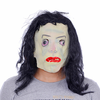 Halloween Mask Vendetta Party Mask masquerade soft latex mask with a long black hair