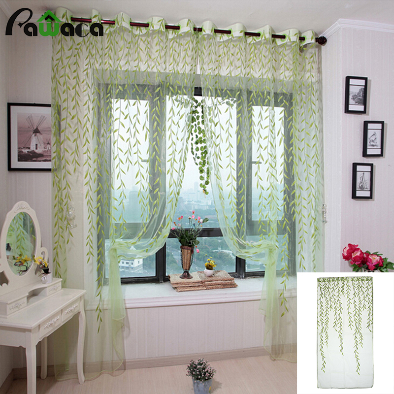 Voile tulle sheer curtains for bedroom green purple - Cortinas vintage dormitorio ...