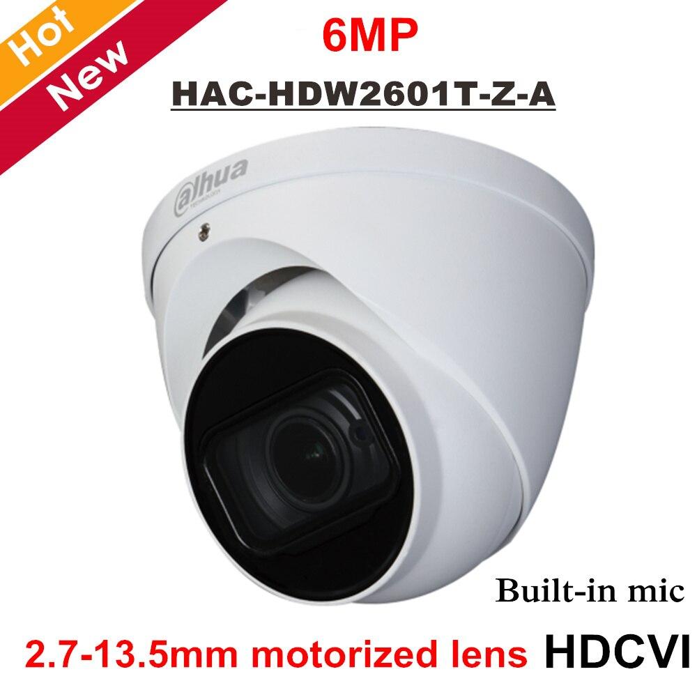 Dahua HDCVI 6mp WDR Camera Construído em MIC 2.7-13.5mm Motorizada Lente IR distância 60 metros caixa De Alumínio câmera de Segurança ao ar livre