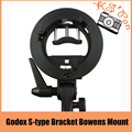 Godox S-type Bracket Bowens Mount Holder for Speedlite Flash Snoot Softbox Honeycomb for Portable Octagon Flash  Umbrella