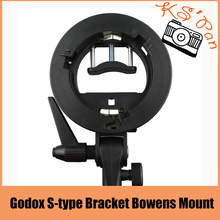 Godox s-type Soporte Bowens Montaje para Flash Speedlite Snoot Softbox Honeycomb