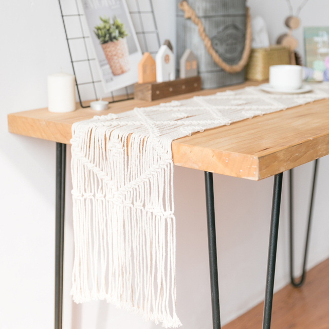 Macrame Bohemian Knitted Table Runner