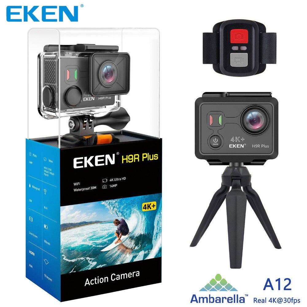Caméra d'action wifi EKEN H9 H9R Plus Ambarella A12 Ultra HD réel 4 K 30fps 14MP Photo pour caméra sport étanche Panasonic