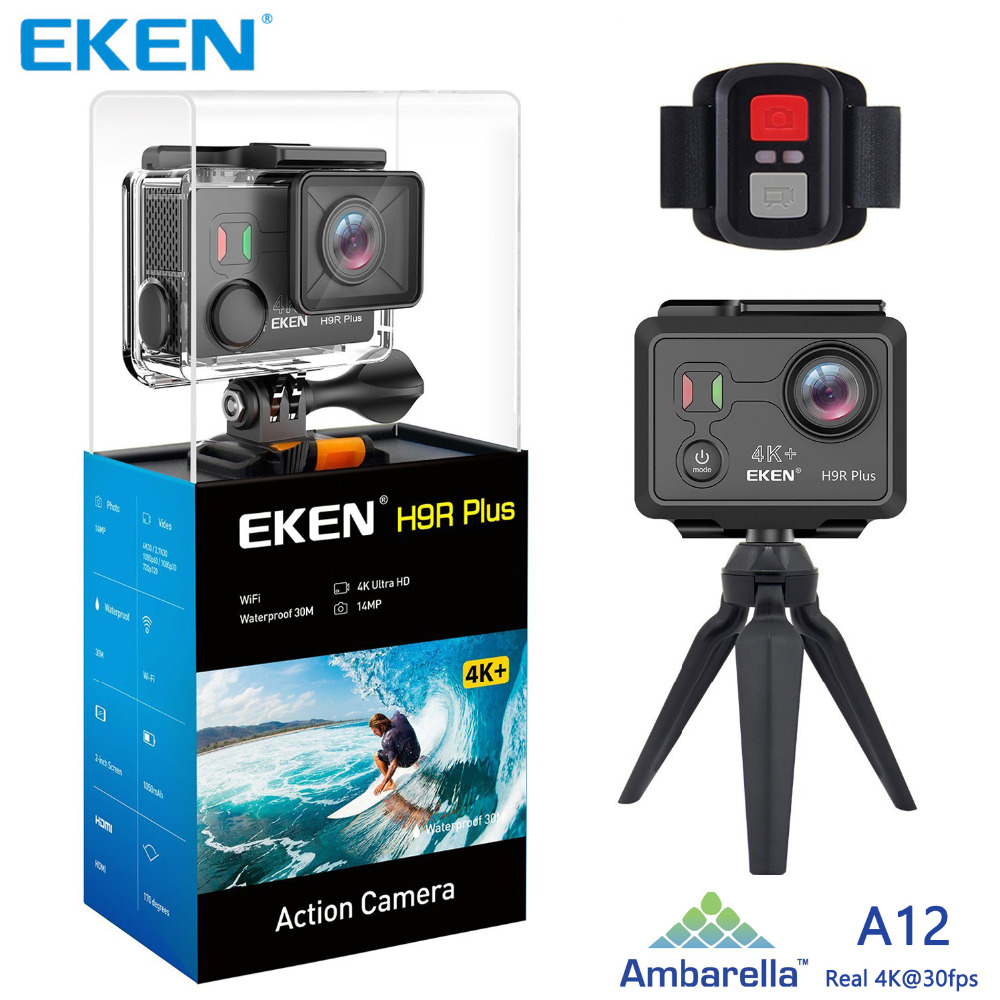 Original EKEN H9 H9R Plus wifi Action Camera Ambarella A12 Ultra HD Real 4K 30fps 14MP Photo for Panasonic waterproof sport Cam image