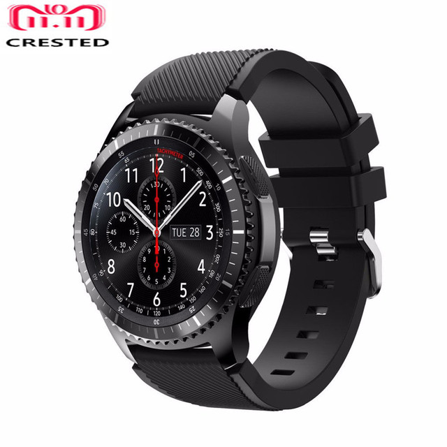 CRESTED Silicone Strap For Samsung Galaxy watch 46mm /Gear S3 Frontier/Classic B