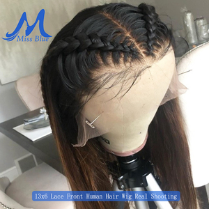 Image 2 - Missblue 30 32 34 36 38 40 inch Lace Front Human Hair Wigs For Black Women Brazilian Remy 360 Lace Frontal Wig With Baby Hair