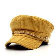 Capelo octogonal chapéus para mulheres chapéu militar plana boné de  beisebol senhoras jornaleiro tampas mulheres sólida f83b07ca814