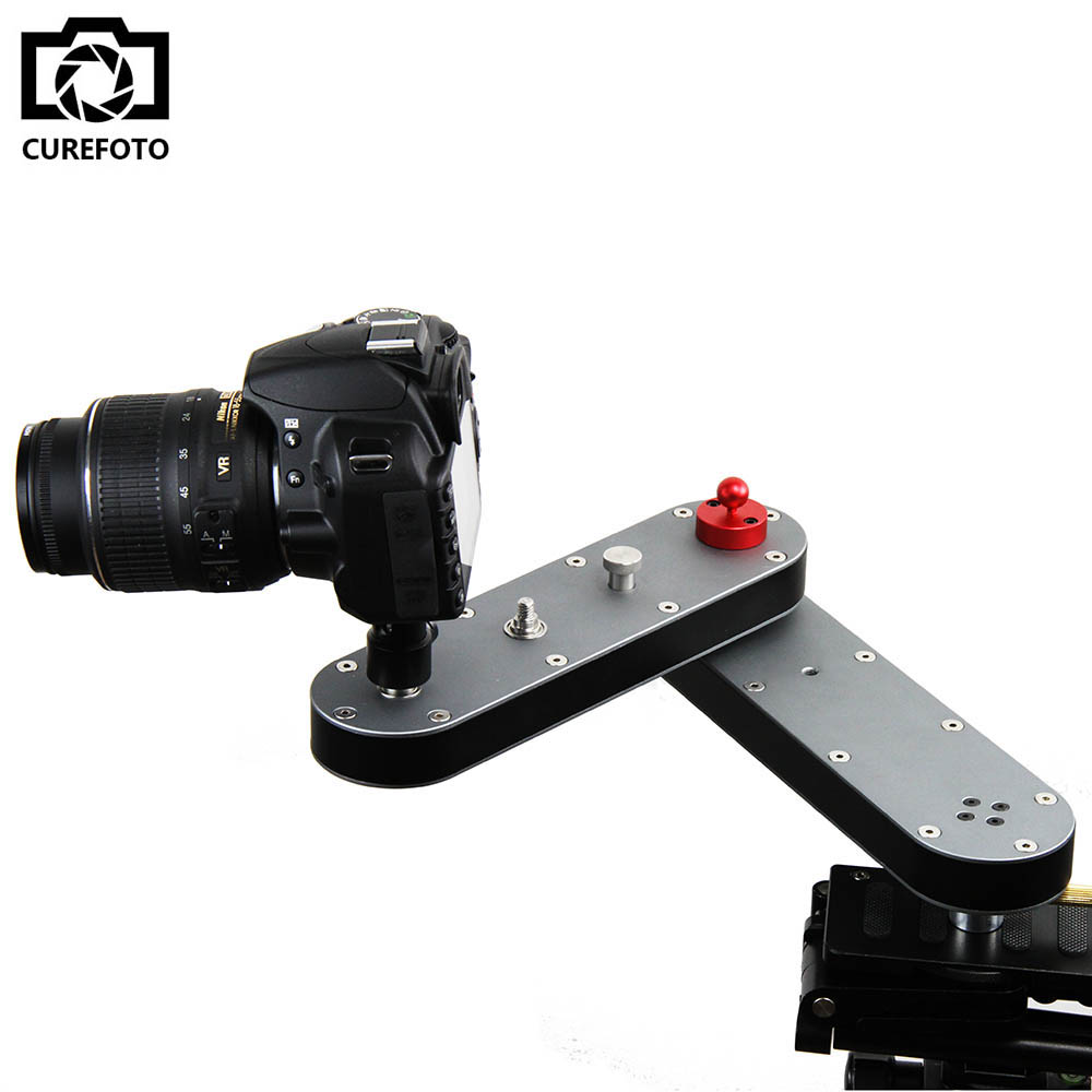 Portable DSLR Camera Video Slider Rail Track with Panning and Linear Motion 4x Distance for DSLR GoPro Action Cameras Smartphone image
