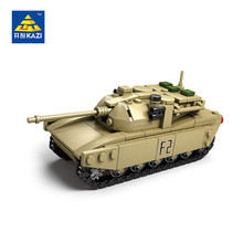 Kazi Military Model M1A2 T-90 Super Tanks world war II Armored weapons 4 In 1 Brinquedos Building Block Kid Toys 84042-84045