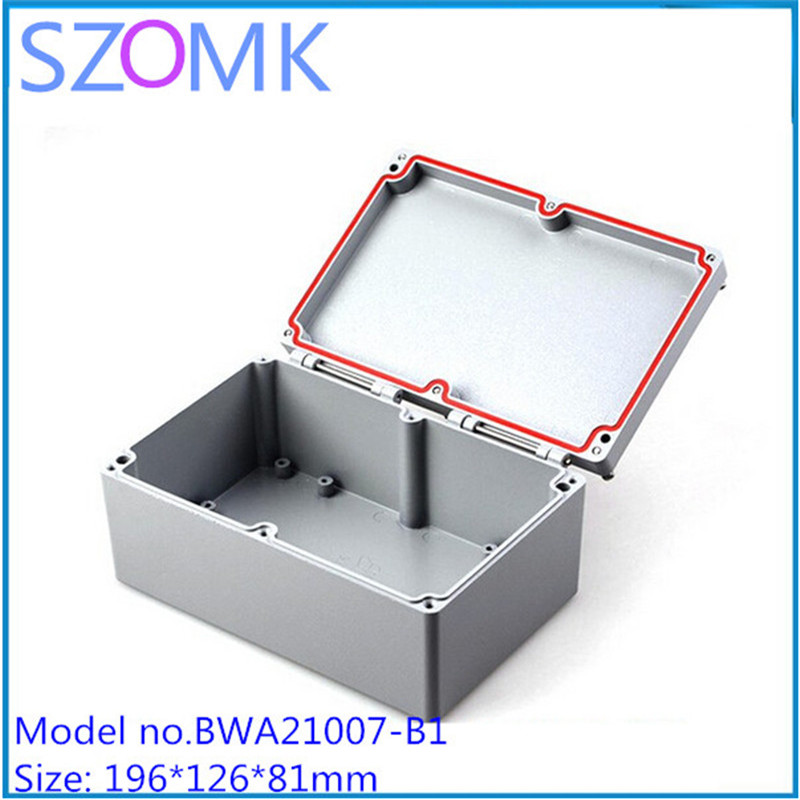 2 pcs, szomk metal enclosure for electronics waterproof PCB junction box 155*103*61mm aluminum electronics project enclosure 4pcs a lot diy plastic enclosure for electronic handheld led junction box abs housing control box waterproof case 238 134 50mm