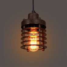 JAXLONG Vintage Loft LED Pendant Lights Black Metal Hanging Lamps Retro Cafe Luminaires Industrial Decor Lighting Fixtures Avize