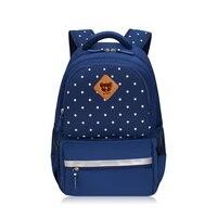 2017 темно-синие звезды детская школьная сумка Мальчики Рюкзак брендовые Детские сумки для девочек школьные сумки для подростков Книга сумка...