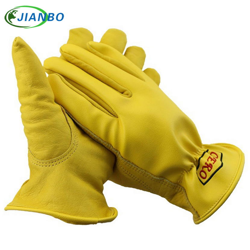 New Men's Work Gloves Goat Leather Security Protection Safety Workers Working Welding Warm Waterproof Gloves For Men