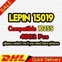 DHL бесплатно Legogo 15019 4002 шт. сборка квадратный создатель город Серия Модель Строительный кирпич lepinings клон 10255 игрушки подарок