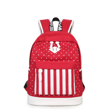 Star canvas backpack female student new