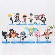 6pcs/set One piece WCF Figure Luffy Sanji Zoro Marco Brook Usopp Shanks Boa chopper 20th Anniversary Action Figure Toy Dolls(China)