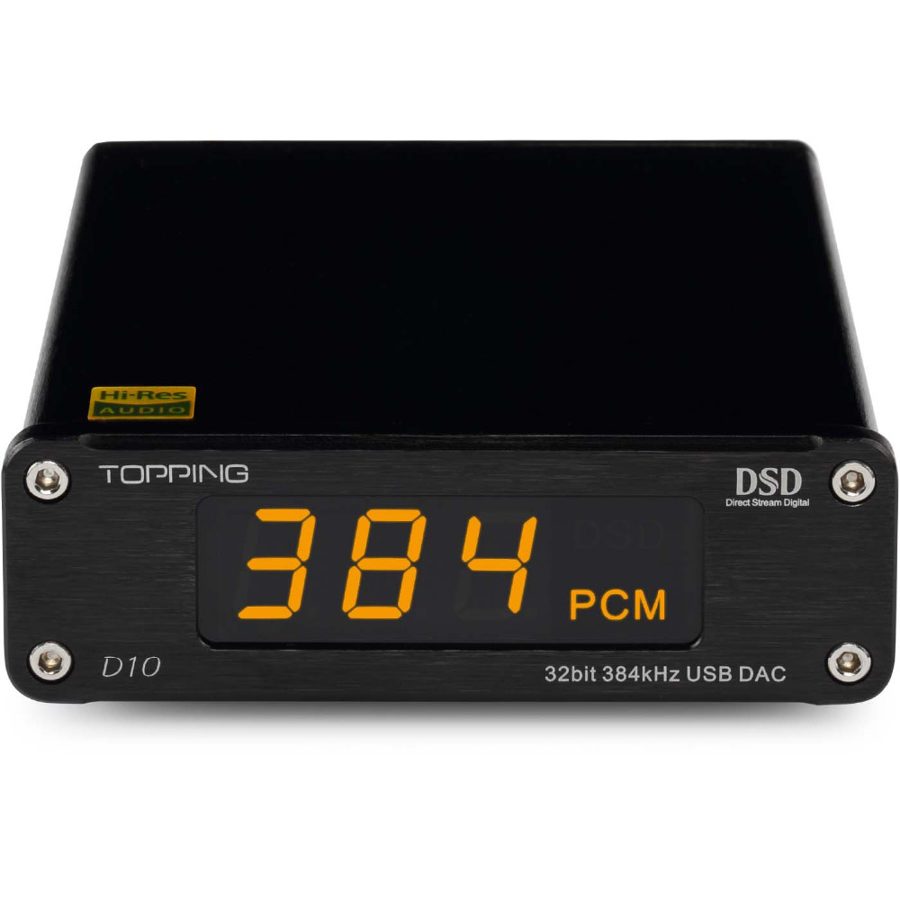 TOPPING D10 Decoder Amplifier DSD ES9018KAM USB DAC Audio Portable HIFI Digital Decodificador XMOS XU208 Stereo Output 32bit цена
