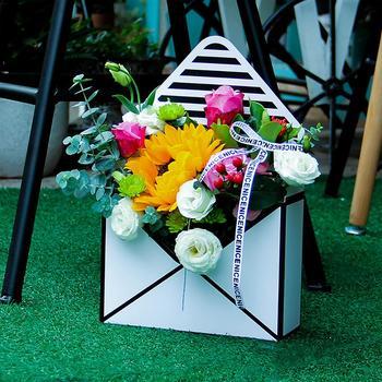 5 Adet Zarf çiçek Hediye Kutusu Güzel El Tutma Zarf Katlanabilir