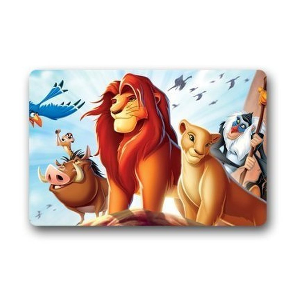 Lion King Movie Welcome Print Front Door Mat Floor Coral Fleece