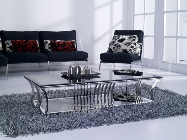 After The Gl Coffee Table Rectangular Low Ikea Stainless Steel Furniture Modern