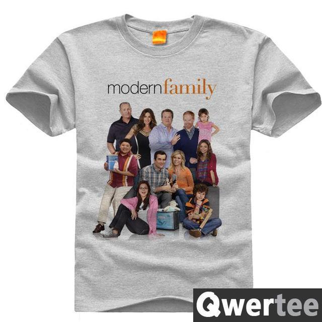 現代の家族クレアフィル·ヘイリーアレックスルークプリント送料無料オリジナルデザインファッションコットンtシャツtシャツtシャツ