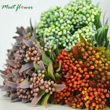 Falso ramo de pinho artificial mirtilo decoração espuma berry bouquet frutas flores decorativas plantas decoração para casa natal