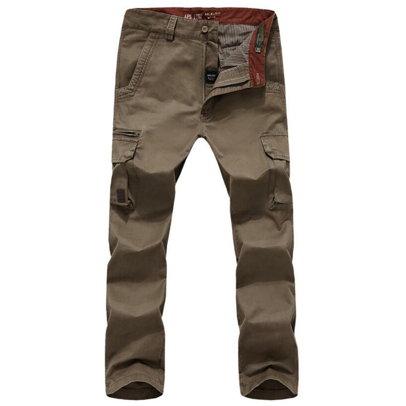 Autumn Tactical Pants Men Cargo Pant Army Military Mens Trousers Multi-pockets Straight  ...