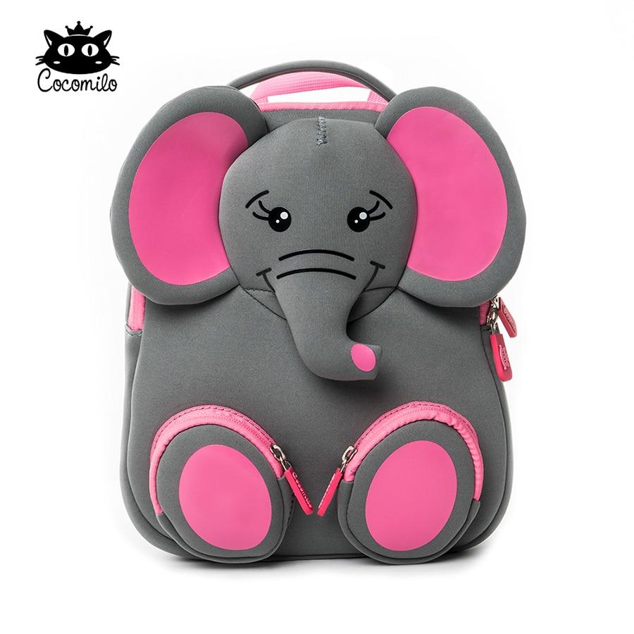 Cocomilo Brand Kids Cute Elephant Kindergarten Waterproof Schoolbag Boys Cartoon Children Backpacks For Girls Animal School Bags