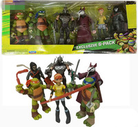 6pcs/lot Turtles Shredder April.O'Neil Master Splinter Leonard action Figures dolls Hands and feet can move Toys Out of print