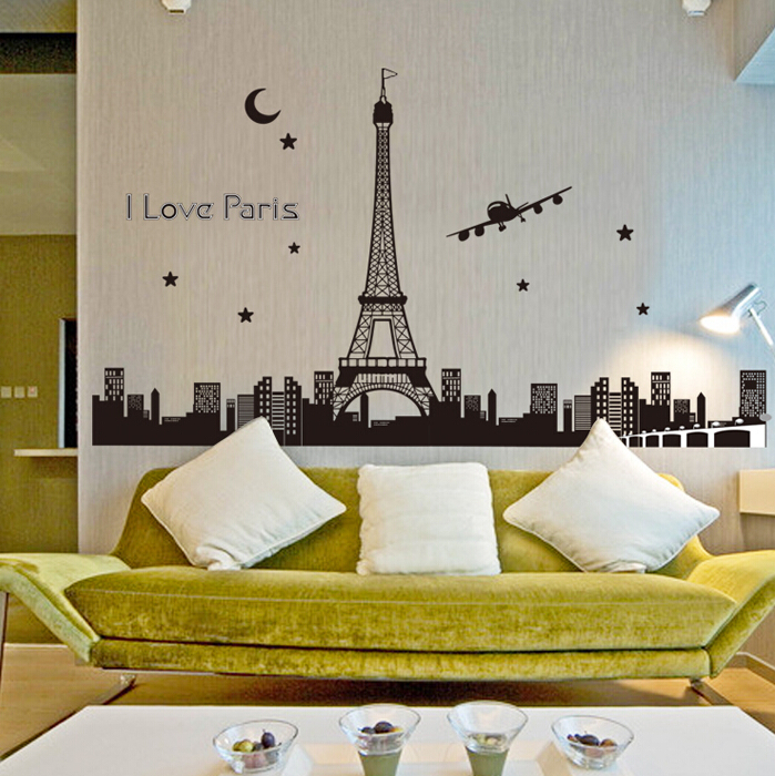 Luminous Eiffel Tower Wall Stickers Glow In The Dark Wall Decals Paris Tower  Vinyl Removable Sticker For Bedroom Home Decor  In Wall Stickers From Home  ... Part 55