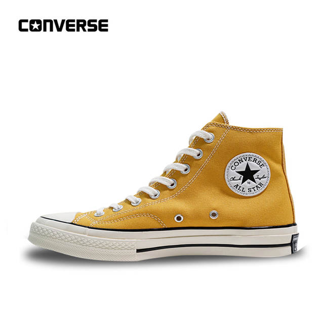 1d083e91bfdbc Online Shop Converse All Star 1970S Men Women's Sneakers Skateboarding  Canvas Shoes High Classic 162054C Yellow 35-44   Aliexpress Mobile