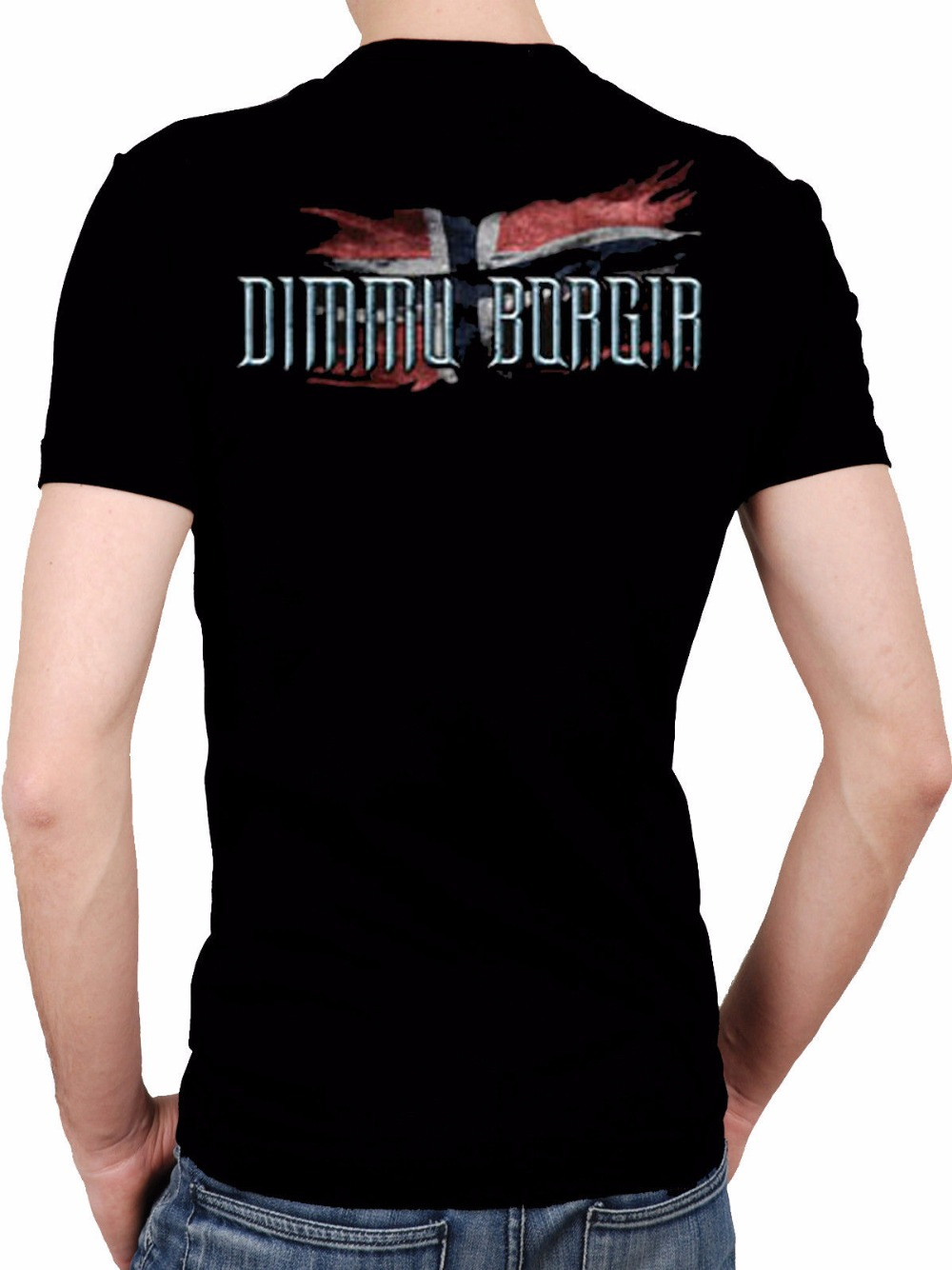 Cheap Tee Shirts Short Dimmu Borgir Band Black T-Shirt Rock T-Shirt Rock Band Shirt Rock Tee Men Printed O-Neck Tee