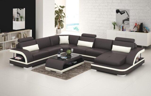Nuovo design divano divano divano ad angolo con la luce del led in ...