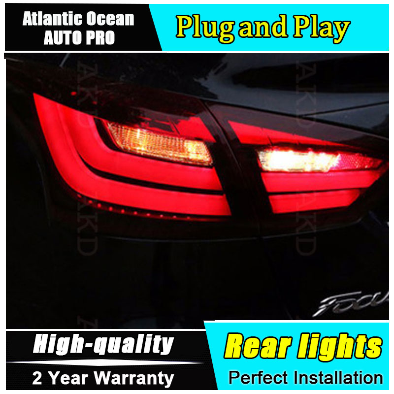 JGRT Car Styling for Ford Focus Taillights BMW Design 2012-2014 Focus LED Tail Lamp Rear Lamp Fog Light For 1Pair ,4PCS boomboost 2 pcs car led for ford new focus 2012 2014 daytiime running lights car styling