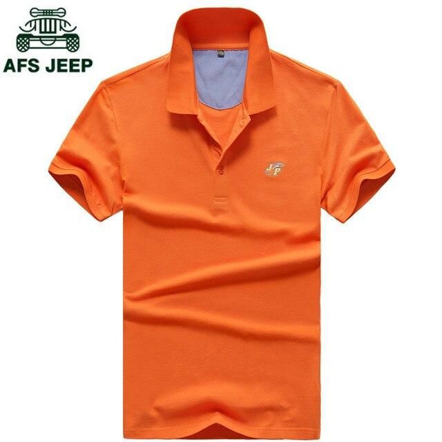 AFS JEEP Марка Одежды Мужчины Polo Рубашка Твердые Повседневная Polo Homme для Мужчин Tee Shirt Верхняя Одежда Высокого Качества Мерсеризированный Летом Camisa Polo