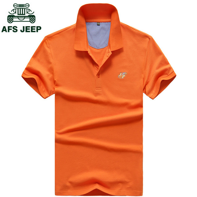 AFS JEEP Brand Clothing Men Polo Shirt Solid Casual Polo Homme For Men Tee Shirt Tops High Quality Mercerized Summer Camisa Polo