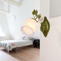 led e27 American Iron Glass Ceramic Designer LED Lamp LED Light Wall lamp Wall Light Wall Sconce For Bar Store Foyer Bedroom