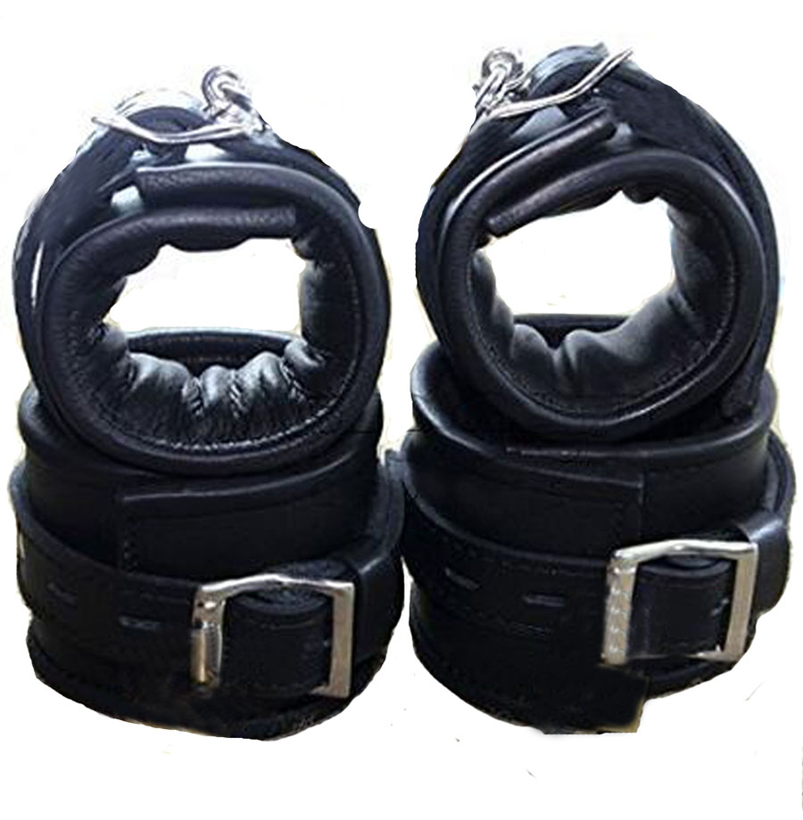 Leather Handcuffs For Sex,Soft Padded Wrist Cuffs Ankle Cuffs,BDSM Bondage Restraints,Sex Toys For Couple