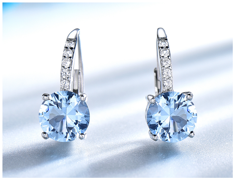 silver gemstone topaz earrings for women  (6)