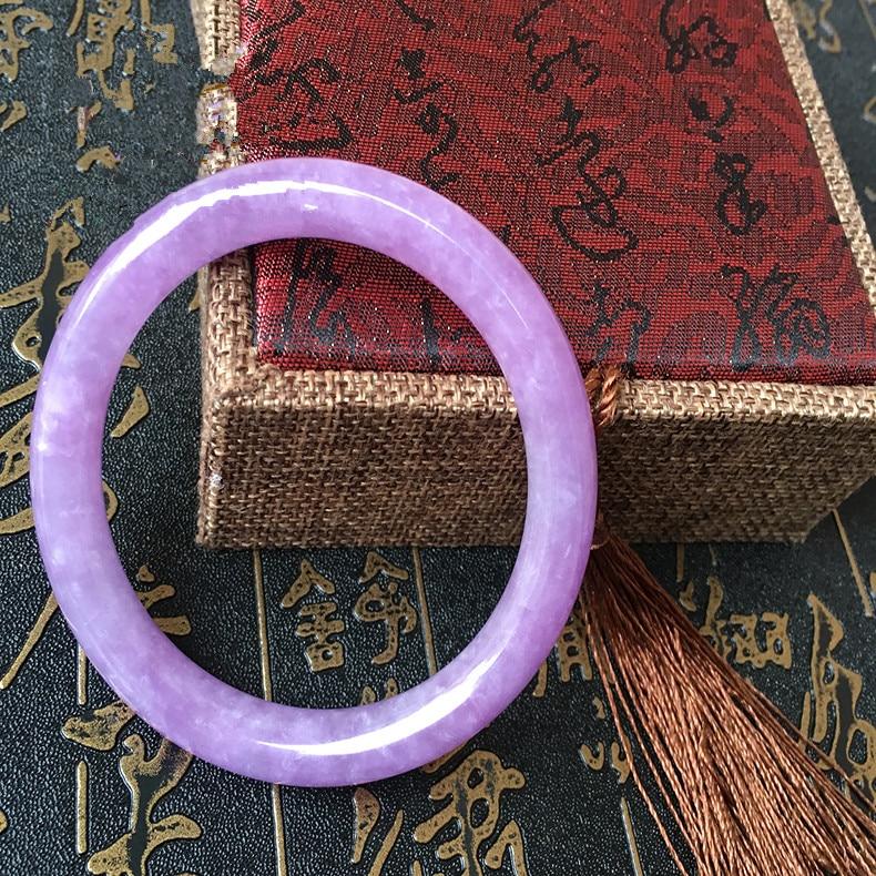 Purple round bar bracelet natural ice kinds of Burma /appraisal certificate/Gift box